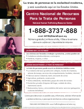 Free Alabama Human Trafficking (Spanish) PDF (Human Trafficking Law Poster)