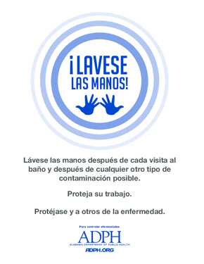 Alabama Employee Handwashing Poster (Spanish) PDF