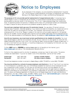 Free Alaska Notice to Employees - Unemployment Insurance PDF (Unemployment Law Poster)
