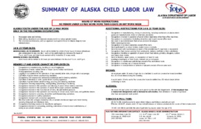 Summary of Alaska Child Labor Law PDF