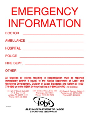 Free Alaska Emergency Information PDF (Miscellaneous Law Poster)