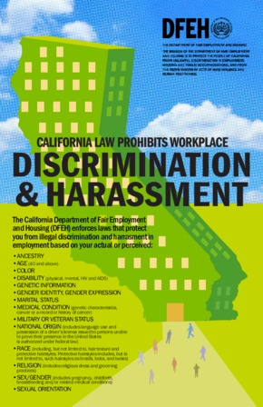 Free California Workplace Discrimination and Harassment Poster PDF (Workplace Violence Law Poster)