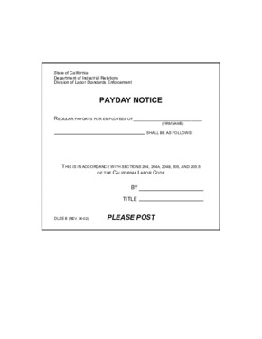 Free California Payday Notice PDF