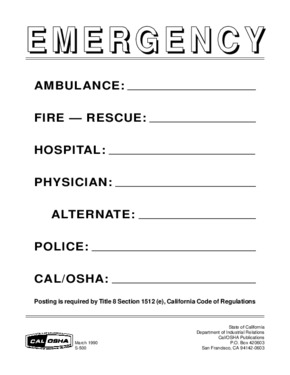 Emergency Phone Numbers PDF