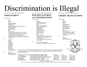 Free Connecticut Discrimination is Illegal Flyer PDF