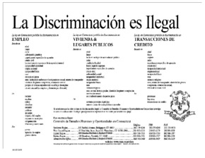 Free Connecticut Discrimination is Illegal (Spanish) PDF (General Labor Law Poster Poster)