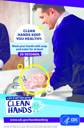 Free Health CDC Clean Hands Keep You Healthy PDF