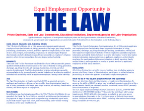 Equal Employment Opportunity Poster (English) PDF