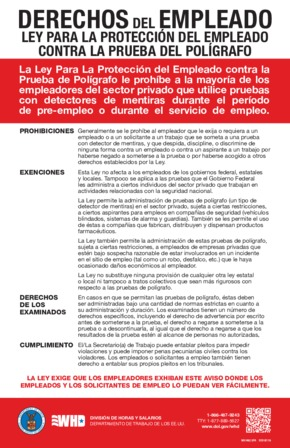 Employee Polygraph Protection Act (EPPA) (Spanish) PDF