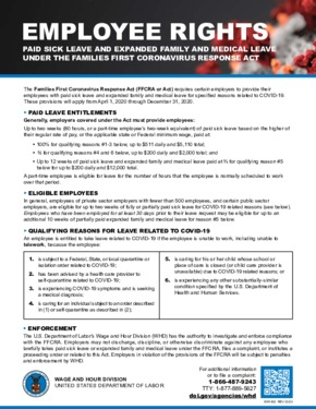 Free Federal Families First Coronavirus Response Act Paid Leave Notice PDF (Sick Leave Law Poster)
