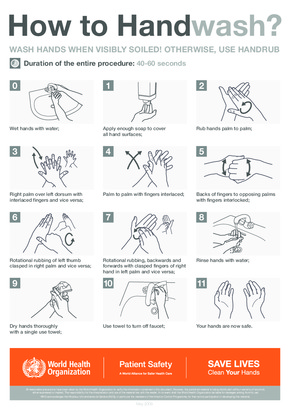 Free Health WHO Handwashing Poster PDF