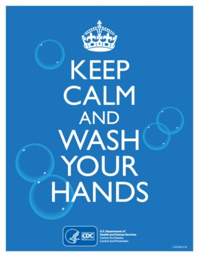 Free Health CDC Keep Calm and Wash Your Hands PDF