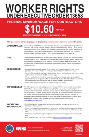Free Federal Federal Contractor Minimum Wage PDF
