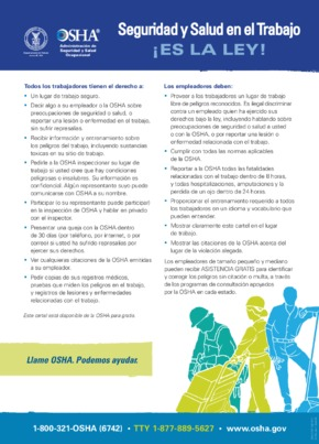 OSHA Job Safety & Health Protection Poster (Spanish) PDF