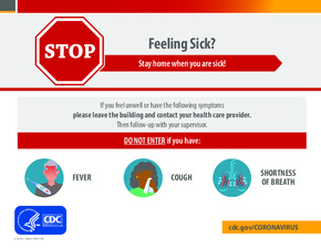 Free Health CDC Coronavirus Stay Home If Sick Poster PDF
