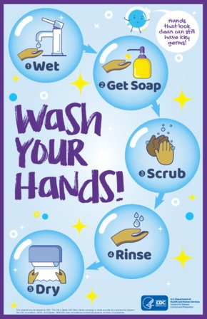 Free Health CDC Wash Your Hands Poster PDF