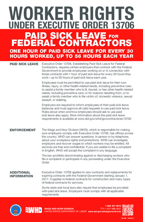 Free Federal Federal Contractor Sick Leave (EO 13706) PDF