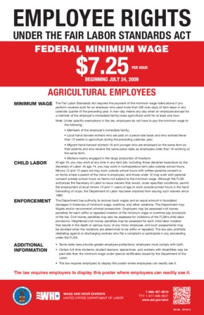 Free Federal Agricultural Employees FLSA Rights PDF