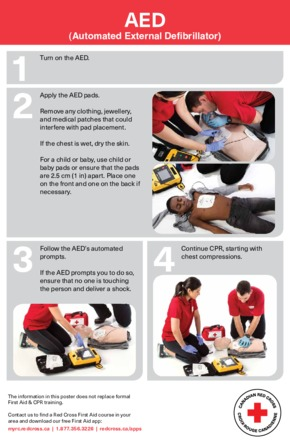 Free First Aid Red Cross AED Instructions PDF