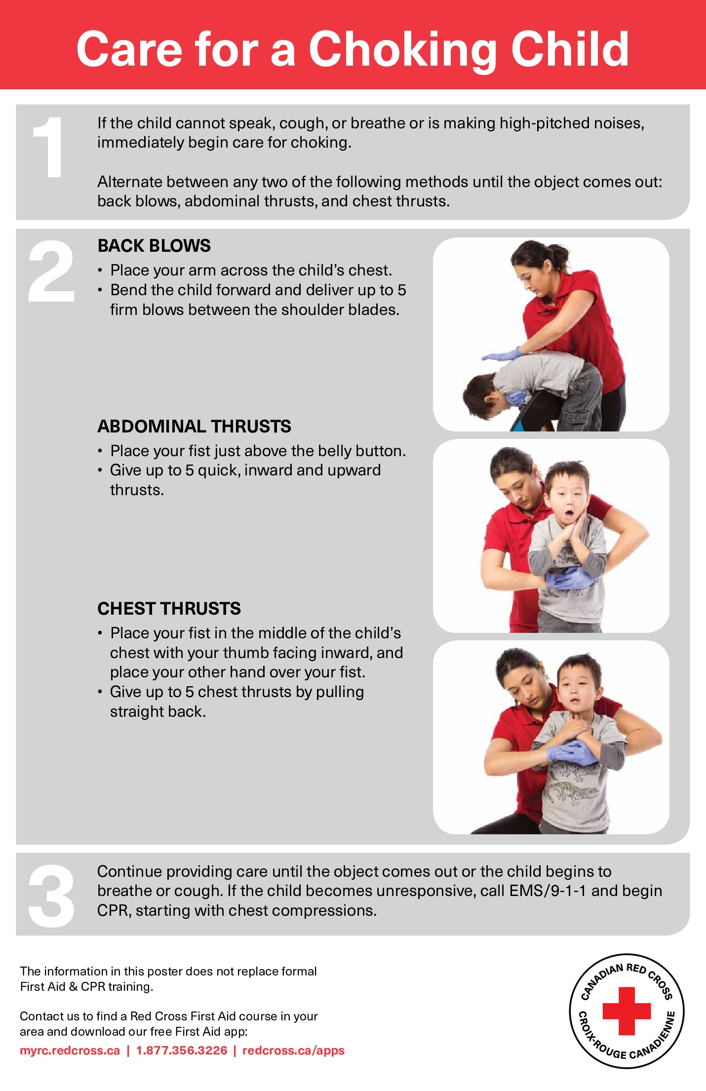 Free First Aid Red Cross Choking Child Labor Law Poster 2021