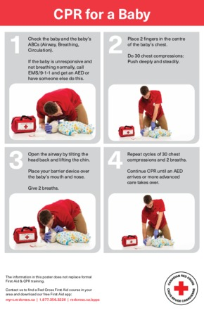 Free First Aid Red Cross Infant / Baby CPR PDF
