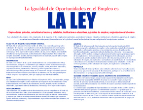 Equal Opportunity is the Law Notice (Spanish) PDF