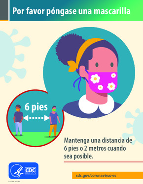 Free Health Please Wear a Cloth Face Covering (Spanish) PDF