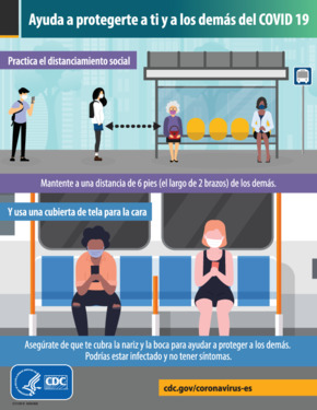 Free Health Help Protect Yourself and Others in Public Settings (Spanish) PDF