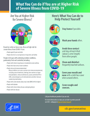 Free Health What You Can Do If You Are At Higher Risk of Severe Illness from COVID19 PDF