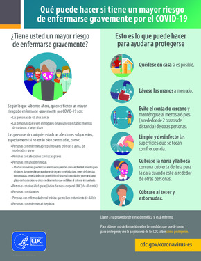 Free Health What You Can Do If You Are At Higher Risk of Severe Illness from COVID19 (Spanish) PDF