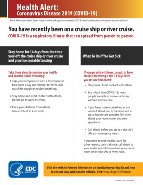 Free Health Traveler Health Alert Notice - Cruise Ship PDF