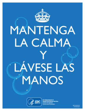 Free Health CDC Keep Calm and Wash Your Hands (Spanish) PDF