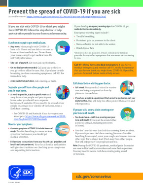 Free Health What to Do if You are Sick Poster PDF