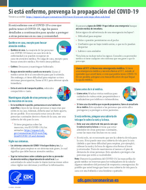 Free Health What to Do if You are Sick Poster (Spanish) PDF