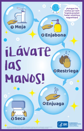 Free Health CDC Wash Your Hands Poster (Spanish) PDF