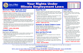 Free Illinois Your Rights Under Illinois Employment Laws (English) PDF
