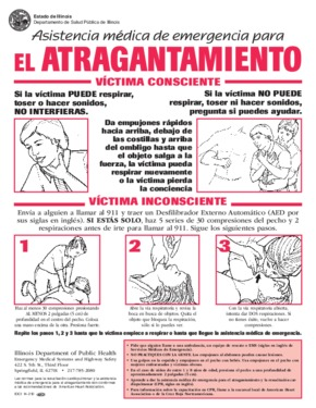 Free Illinois Emergency Care for Choking (Spanish) PDF (Miscellaneous Law Poster)