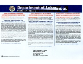 Free Illinois Notice to Individuals Performing Services for Construction Contractors PDF