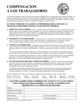 Free Illinois Workers' Compensation Poster (Spanish) PDF (Workers Compensation Law Poster)