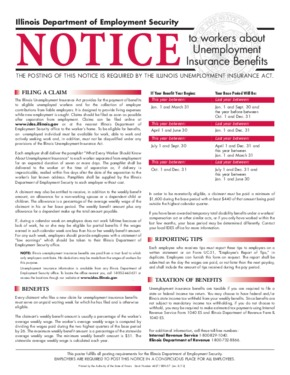 Free Illinois Unemployment Insurance Benefits Notice PDF
