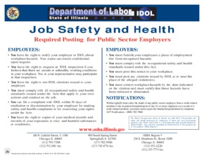 Free Illinois Job Safety and Health PDF