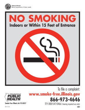 Free Illinois No Smoking Sign (English) PDF