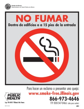 Free Illinois No Smoking Sign (Spanish) PDF
