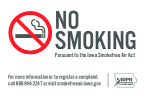 Free Iowa Iowa No Smoking Poster PDF (General Labor Law Poster Poster)