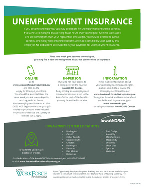 Free Iowa Unemployment Insurance PDF (Unemployment Law Poster)