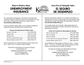 Free Kansas Unemployment Insurance PDF (Unemployment Law Poster)