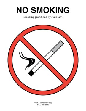 Free Kansas Kansas Indoor Clean Air Act PDF (Anti-Smoking Law Poster)