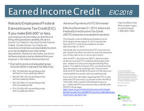 Free Louisiana Earned Income Credit (EIC) PDF (Miscellaneous Law Poster)