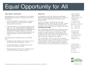 Free Louisiana Equal Opportunity for All PDF (Equal Opportunity Law Poster)