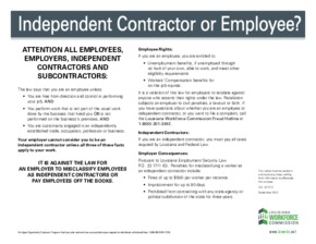 Free Louisiana Independent Contractor or Employee? PDF (Employee Classification Law Poster)